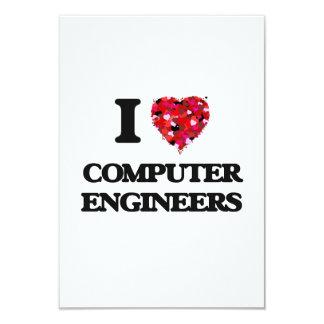 """Amo a ingenieros informáticos invitación 3.5"""" x 5"""""""