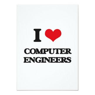 """Amo a ingenieros informáticos invitación 5"""" x 7"""""""