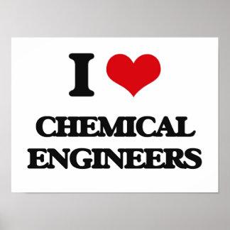Amo a ingenieros químicos posters