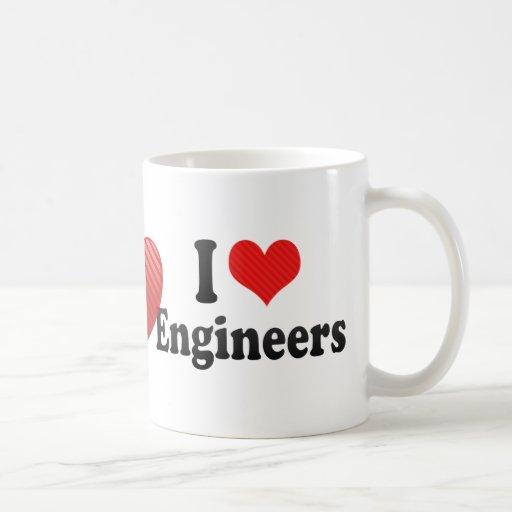 Amo a ingenieros taza de café