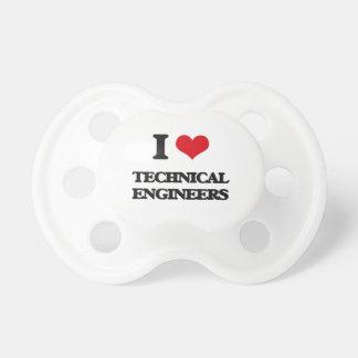 Amo a ingenieros técnicos chupete de bebé