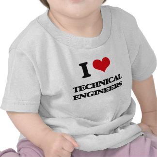 Amo a ingenieros técnicos camiseta