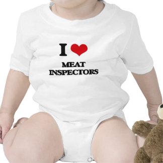 Amo a inspectores de la carne trajes de bebé