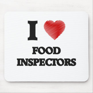 Amo a inspectores de la comida alfombrillas de raton