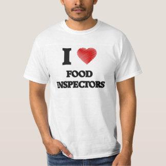 Amo a inspectores de la comida camisas