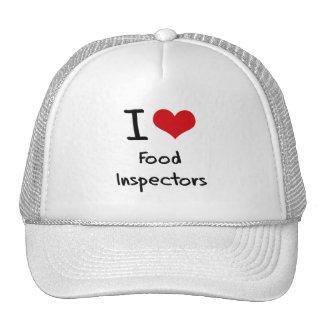 Amo a inspectores de la comida gorras