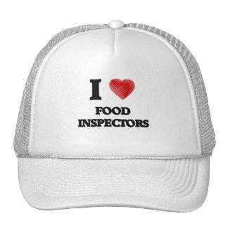 Amo a inspectores de la comida gorra