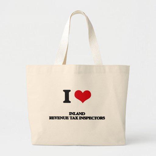 Amo a inspectores del impuesto de Hacienda pública Bolsas De Mano