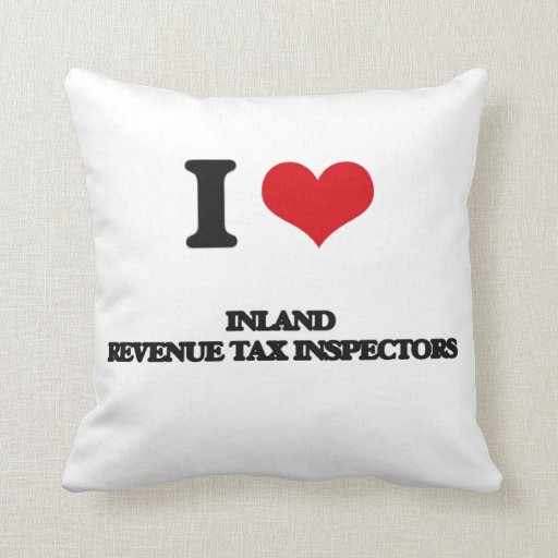 Amo a inspectores del impuesto de Hacienda pública Almohadas