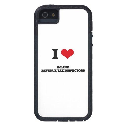 Amo a inspectores del impuesto de Hacienda pública iPhone 5 Case-Mate Carcasas