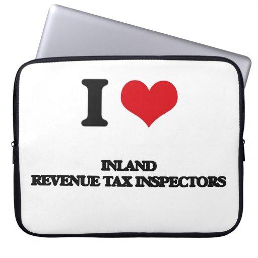 Amo a inspectores del impuesto de Hacienda pública Funda Portátil