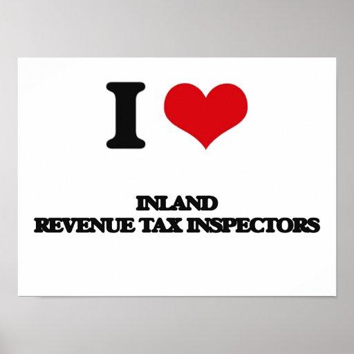 Amo a inspectores del impuesto de Hacienda pública Impresiones