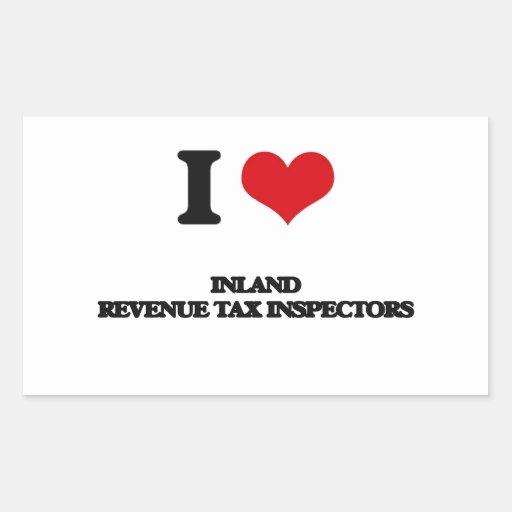 Amo a inspectores del impuesto de Hacienda pública Rectangular Altavoz
