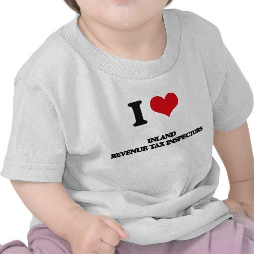 Amo a inspectores del impuesto de Hacienda pública Camiseta