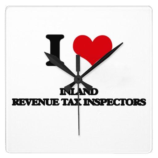 Amo a inspectores del impuesto de Hacienda pública Relojes De Pared