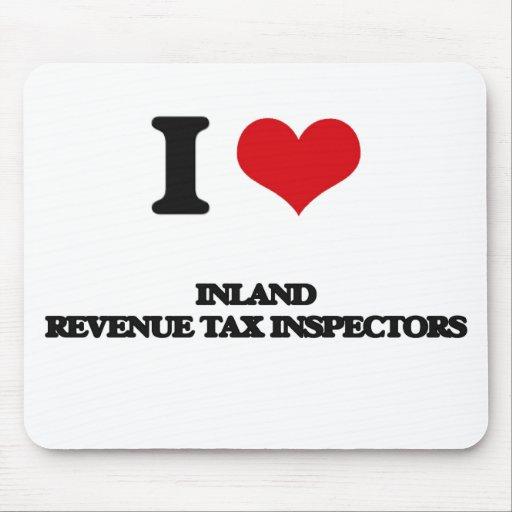 Amo a inspectores del impuesto de Hacienda pública Alfombrilla De Ratones