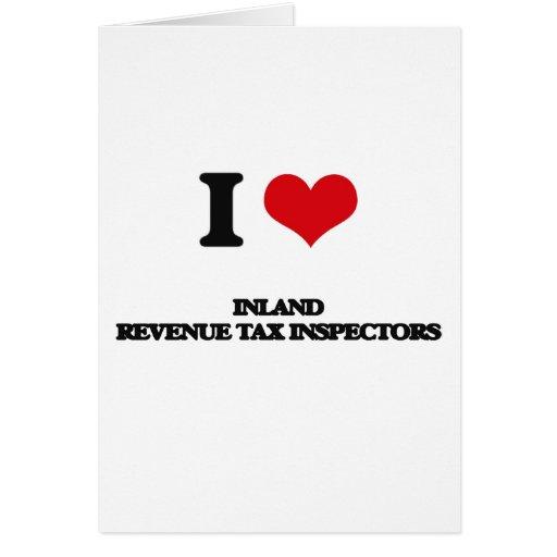 Amo a inspectores del impuesto de Hacienda pública Tarjeta