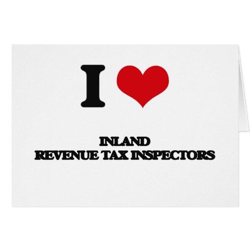 Amo a inspectores del impuesto de Hacienda pública Tarjetas