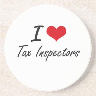 Amo a inspectores del impuesto posavasos diseño