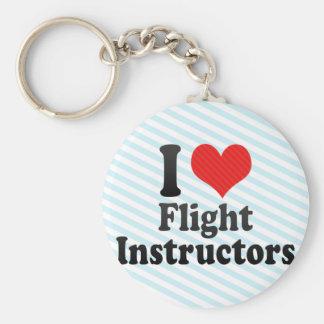 Amo a instructores del vuelo llaveros personalizados