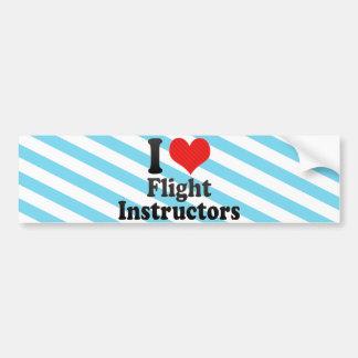 Amo a instructores del vuelo pegatina para auto