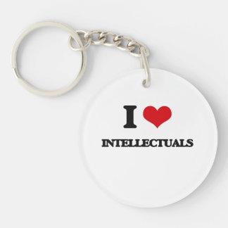 Amo a intelectuales llavero redondo acrílico a una cara