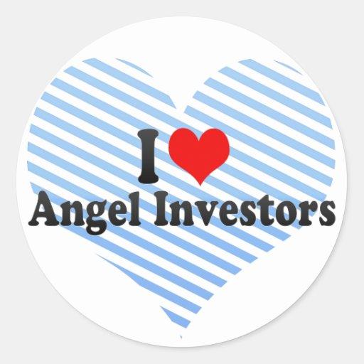 Amo a inversores del ángel etiqueta