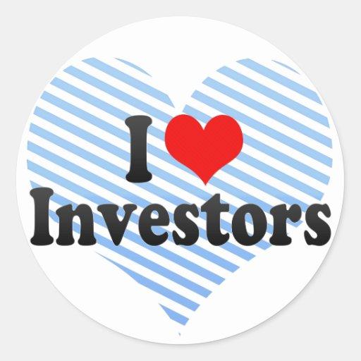 Amo a inversores pegatinas