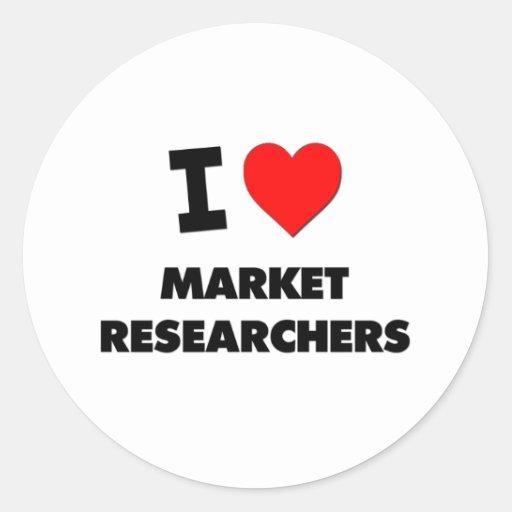 Amo a investigadores de mercado etiquetas