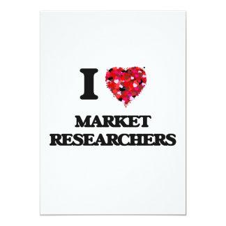 """Amo a investigadores de mercado invitación 5"""" x 7"""""""