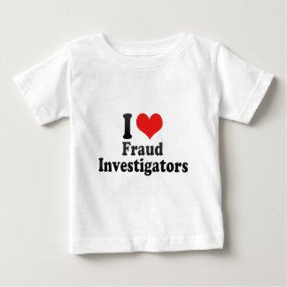 Amo a investigadores del fraude playera de bebé