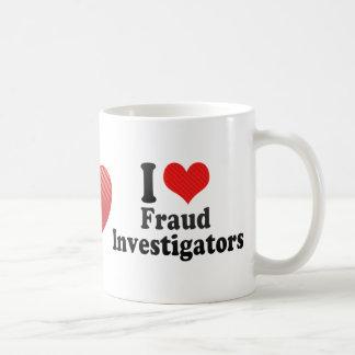 Amo a investigadores del fraude tazas de café