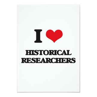 """Amo a investigadores históricos invitación 5"""" x 7"""""""