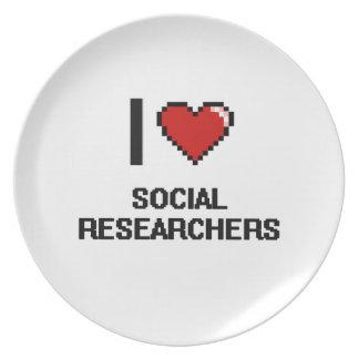 Amo a investigadores sociales plato
