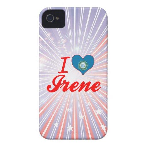 Amo a Irene, Dakota del Sur Case-Mate iPhone 4 Coberturas