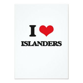 Amo a isleños invitación personalizada