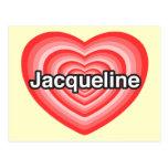 Amo a Jacoba. Te amo Jacoba. Corazón Postal