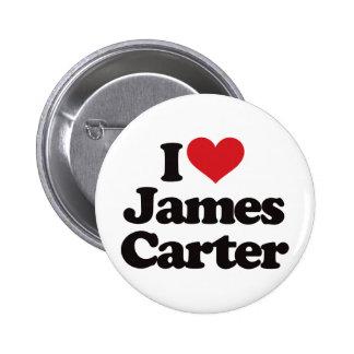 Amo a James Carretero Pin Redondo De 2 Pulgadas