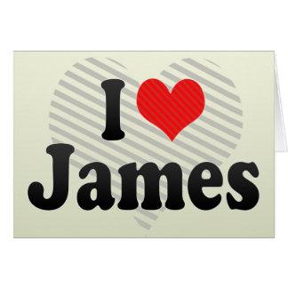 Amo a James Felicitación