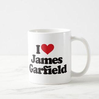 Amo a James Garfield Taza Básica Blanca