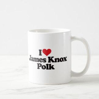 Amo a James Knox Polk Taza Clásica