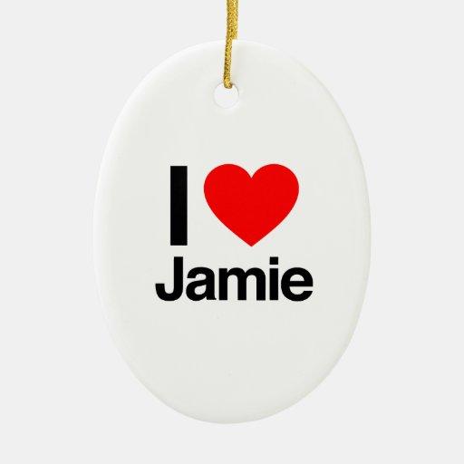 amo a jamie adorno ovalado de cerámica