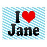 Amo a Jane Postales