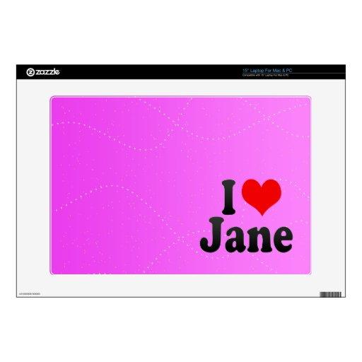Amo a Jane Skins Para Portátil