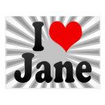 Amo a Jane Tarjeta Postal
