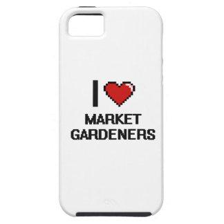 Amo a jardineros de mercado iPhone 5 carcasas