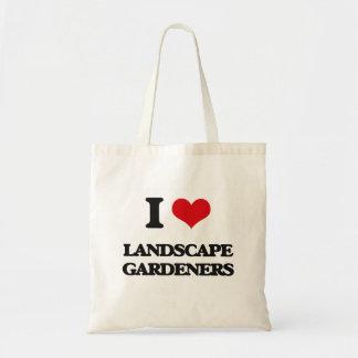 Amo a jardineros de paisaje bolsas