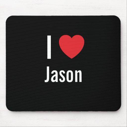 Amo a Jason Alfombrilla De Ratón