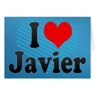 Amo a Javier Felicitación