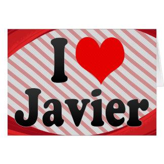 Amo a Javier Felicitacion
